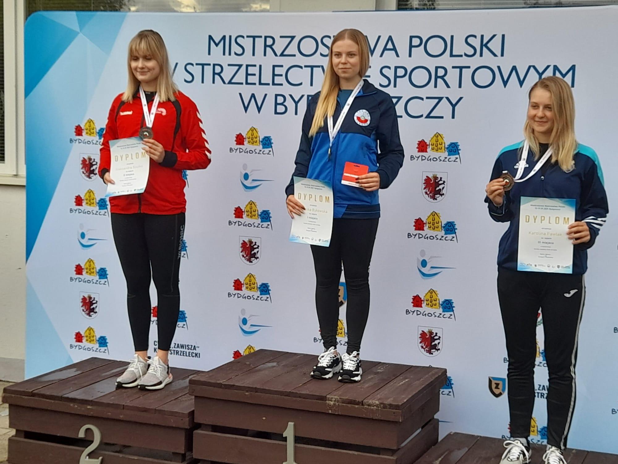 Młodzieżowe Mistrzostwach Polski 2021 - Weronika Bykowska - 1mce Kdw 3x40